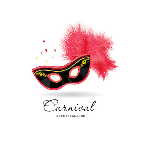 buffoon: carnival mask logo design