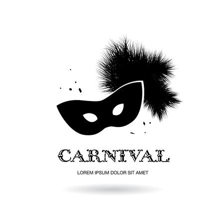 appear: carnival mask logo design