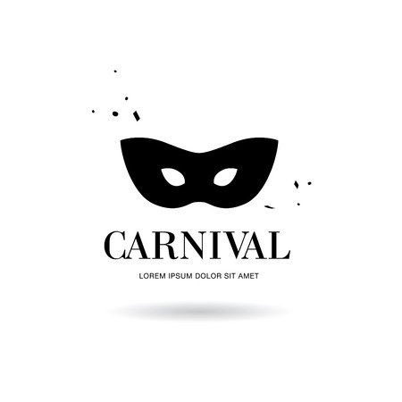 appear: carnival mask logo design