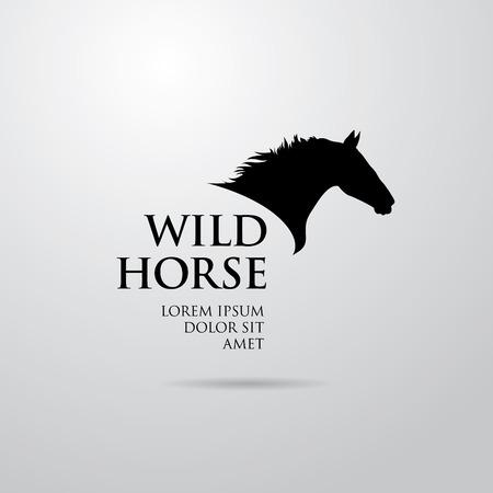 Horse logo design Illusztráció