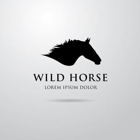 equine: Horse logo design Illustration