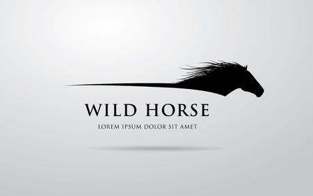 Horse logo design Vectores