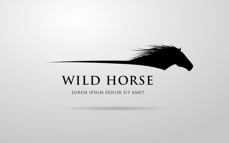 Horse logo design Illustration
