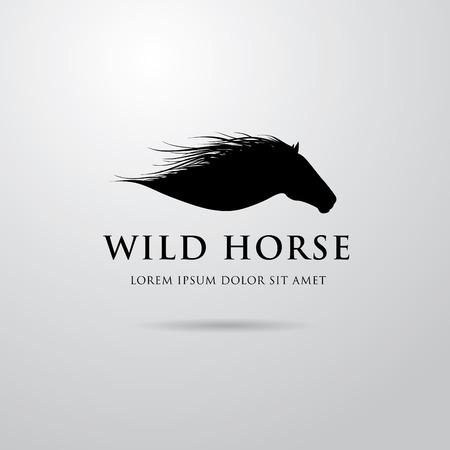 馬のロゴの設計