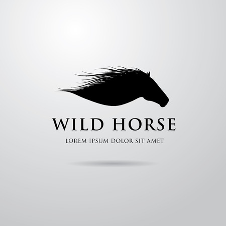 Horse logo design 矢量图像