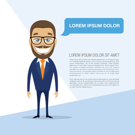 commend: Happy successful businessman. Vector illustration Illustration