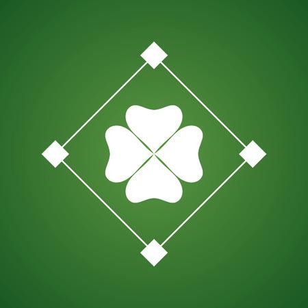 four fourleaf: clover leaf. symbol of a st. patricks day. vector illustration