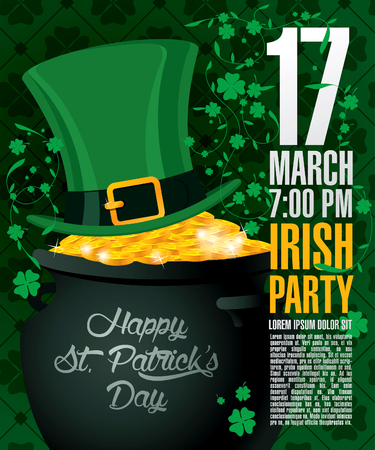st  patrick's day: Happy St Patricks day. Vector illustration Illustration