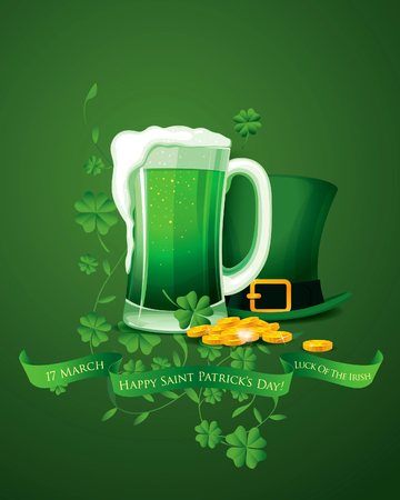 and saint: Happy Saint Patricks day. Vector illustration