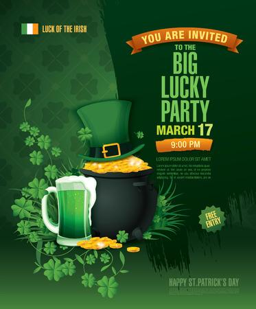 saint: Happy Saint Patricks day. Poster template design