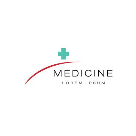 dispensary: Madical logo. Concept style Illustration