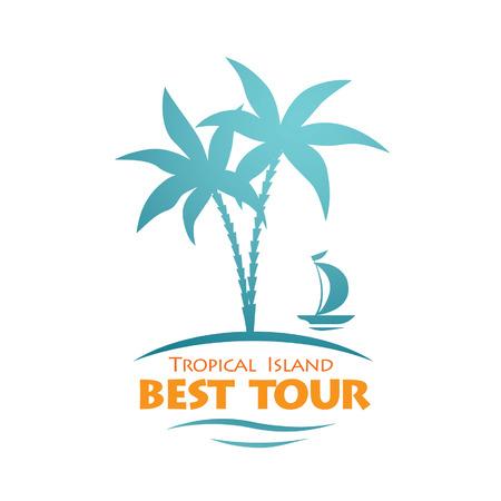Reisen abstrakte Vektor-Logo Logo