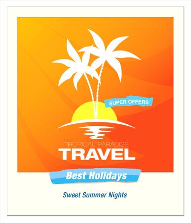 sailing boats: travel agency vector logo