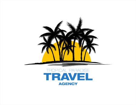 travel agency: travel agency vector logo
