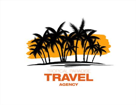 agencia de viajes: logotipo de la agencia de viajes del vector Vectores