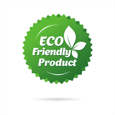 eco green label Illustration