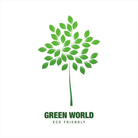 green world: eco green world logo