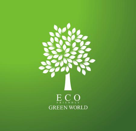 tree logo: eco tree logo Illustration