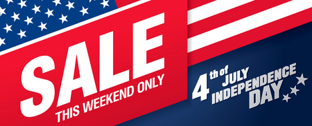 Independence day sale banner template design 일러스트