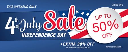 Independence day verkoop banner template design