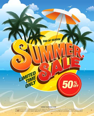 banner de verano plantilla de venta