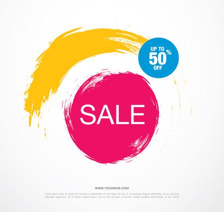 Sale banner, poster. Sale background. Sale tag. Illustration