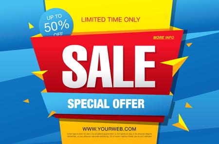 Sale banner, poster. Sale background. Sale label. Illustration