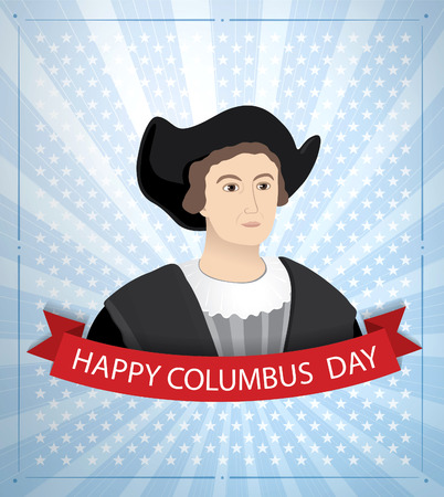 voyager: happy columbus day Illustration