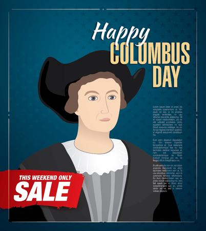 colombo: Columbus Day. Sale Illustration