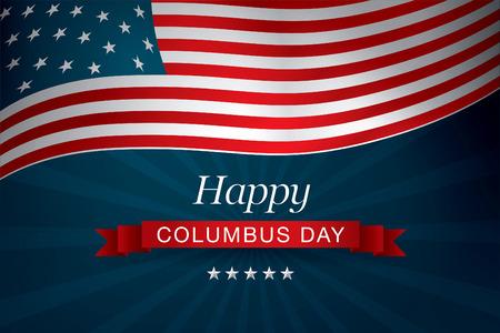 happy columbus day Vectores