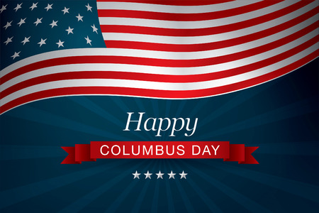 happy columbus day Vettoriali