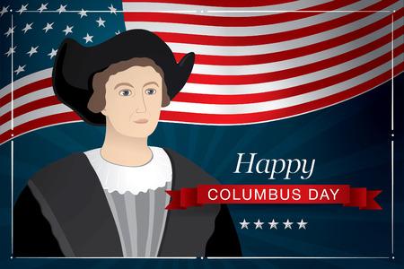 colombo: happy columbus day Illustration