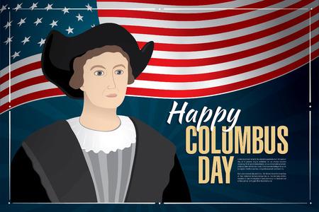 discoverer: happy columbus day Illustration