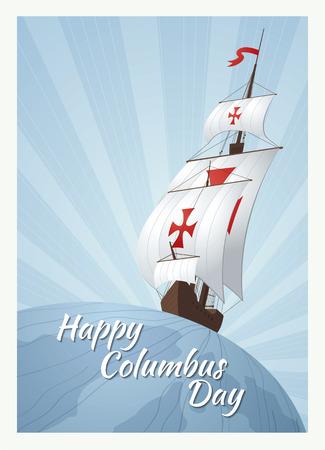 happy columbus day Çizim