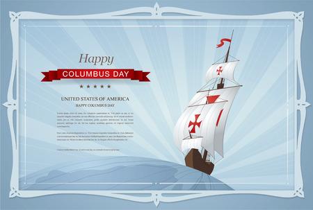 행복한 콜럼버스 날 일러스트
