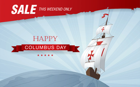 Columbus Day. Sale Illustration
