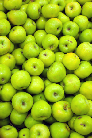 green apples: Fresh apples. Green apples. Fruits on market