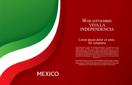 Viva Mexico! 16 th of September. Happy Independence day!  イラスト・ベクター素材
