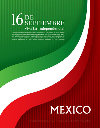 Viva Mexico! 16 th of September. Happy Independence day! Vectores