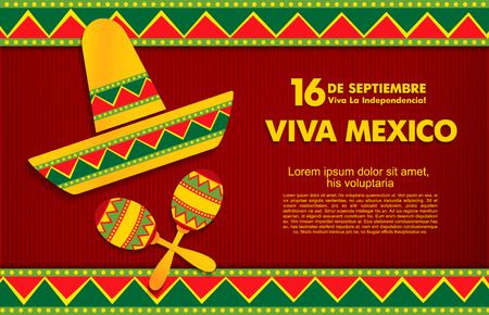 9 월 16 일. 행복한 독립 기념일! 비바 멕시코!