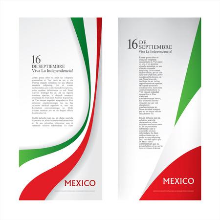 16 th 9 月。幸せな独立記念日!ビバ メキシコ!  イラスト・ベクター素材