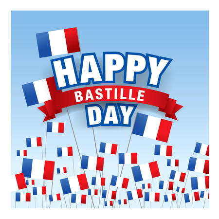 fourteenth: 14 july. Happy Bastille Day! Illustration