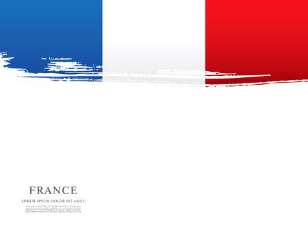 Französisch-Flag im Pinselstrich Hintergrund