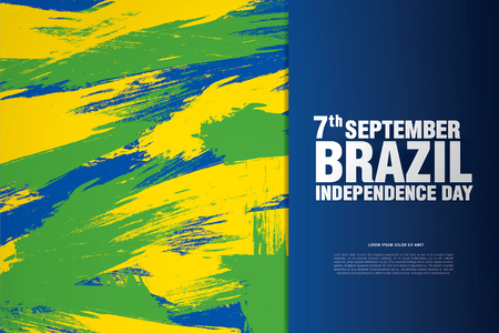 Brazil. Happy independence day! Vettoriali