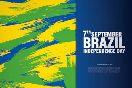Brazil. Happy independence day! Stock Illustratie