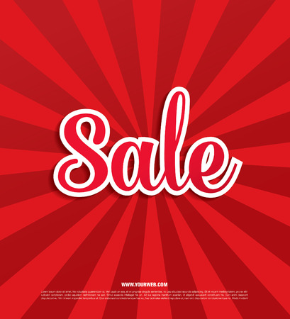 Sale banner, poster. Sale tag
