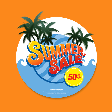 tally: summer sale circle label