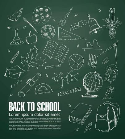 semester: back to school banner Illustration