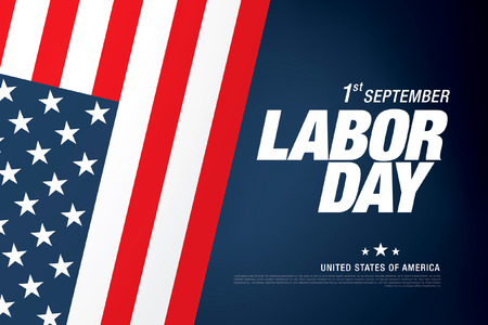 first day: Happy labor day banner