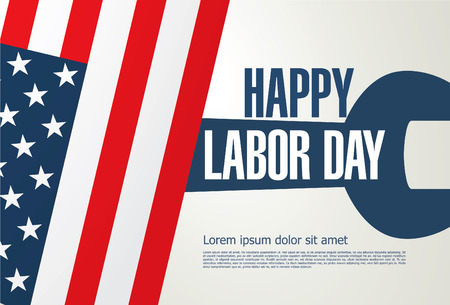 postcard: Labor day. Banner